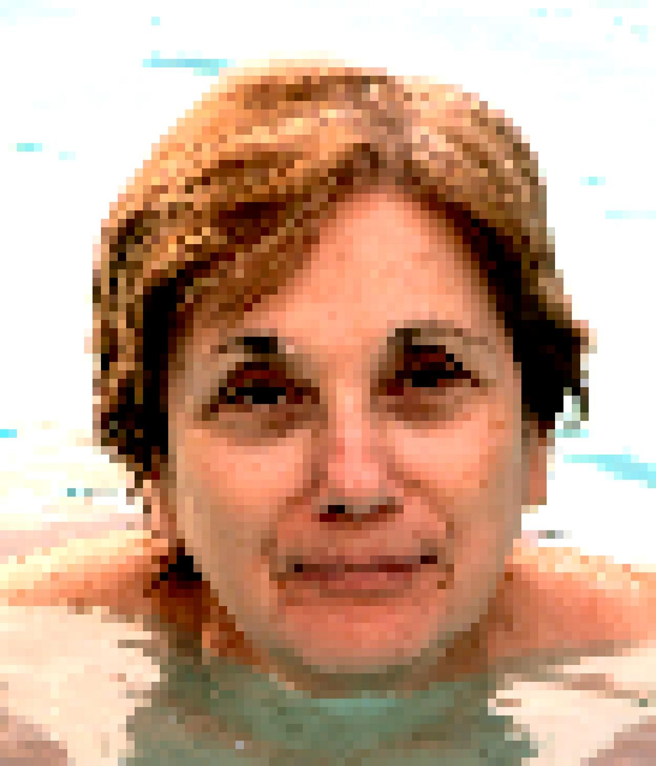 portrait of the artist's muse as she swims in the pool - Happy Mother's Day - Techno-Impressionist Museum - Techno-Impressionism - art - beautiful - photo photography picture - by Tony Karp