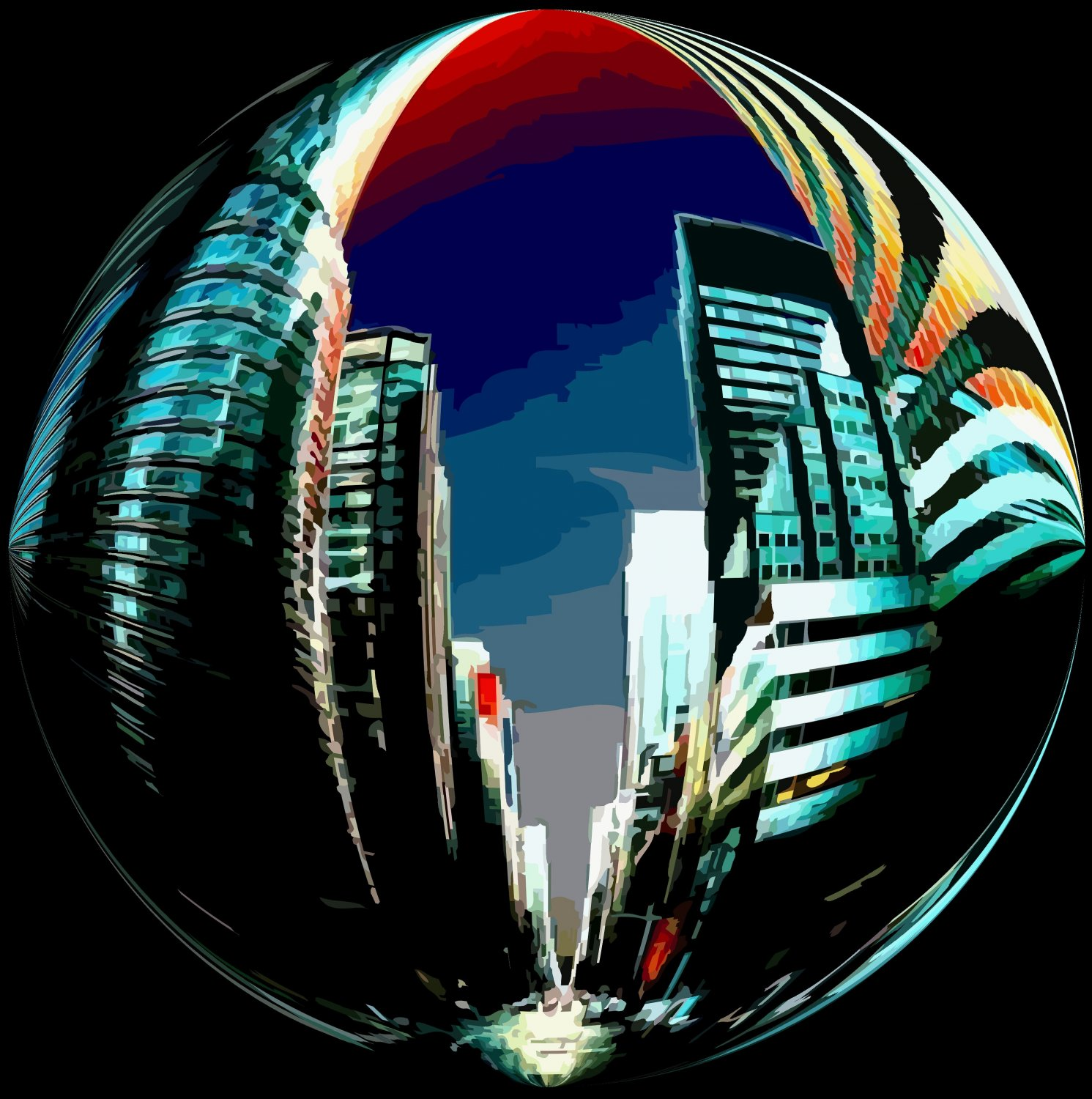 New York City Dream Bubble - The Art of Tony Karp - Techno-Impressionist Museum - Techno-Impressionism - art - beautiful - photo photography picture - by Tony Karp
